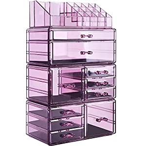 Best Epic Trends 51ZpSn%2BaImL._SS300_ InnSweet Makeup Organizer Large Cosmetic Storage Drawers and Jewelry Display Box for Vanity, Makeup Holder with 10…