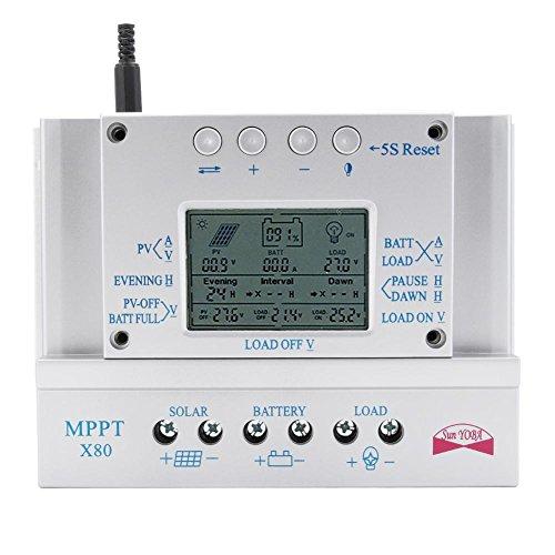 Sun YOBA X Series 80A 12V/24V MPPT Solar Controller Three-times Solar charge controller Solar Regulator by Sun YOBA