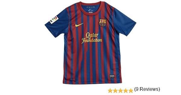 Nike - Camiseta del Barcelona para niño (temporada 2011/2012) Blue with Red stripes Talla:Boys Age 12-13 Large: Amazon.es: Deportes y aire libre
