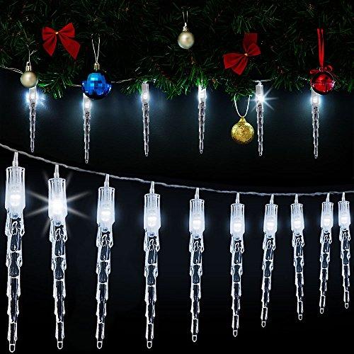 Girlande 40 LEDs Eiszapfen für Drinnen und Draussen