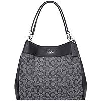 COACH Lexy Shoulder Bag in Outline Signature khaki/chalk F57612
