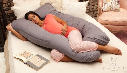 Naomi Home Cozy Body Pillow Gray