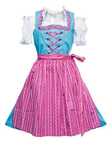 Costume bávara de las rodillas con falda y-Blusa turquesa 40
