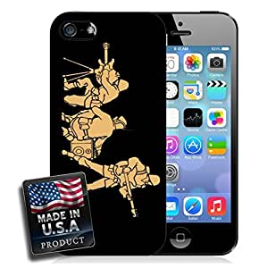 Make Music Not War Army Band Music iPhone 4/4s Hard Case by mcsharks