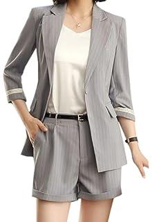 Amazon.com: FRPE Blazer - Conjunto de traje de mujer (casual ...