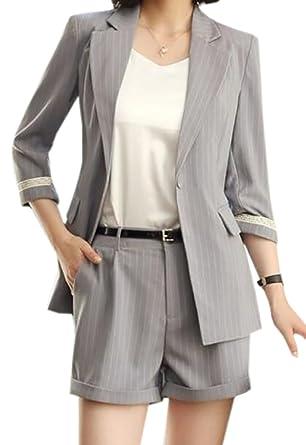 UUYUK,Women Summer Business 3/4 Sleeve OL Blazer Jacket Suit
