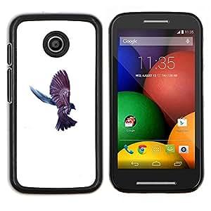Cuervo Cuervo Pájaro- Metal de aluminio y de plástico duro Caja del teléfono - Negro - Motorola Moto E / XT1021 / XT1022