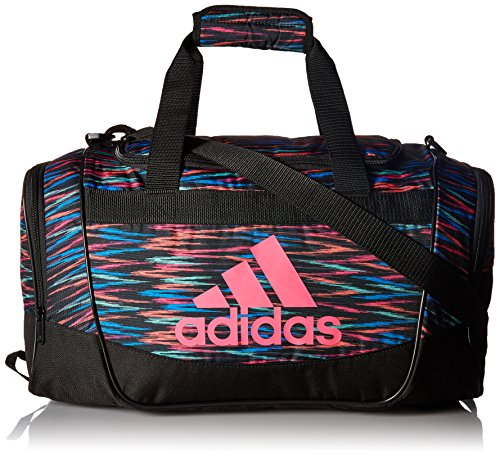adidas Defender II Small Duffel Bag, One Size, Black Twister/Black/Shock Pink