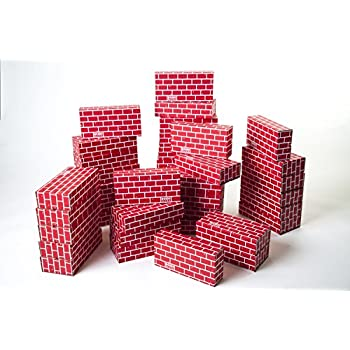 Mondo Bloxx 40 Pack Cardboard Block Brick Set (12x6x3)