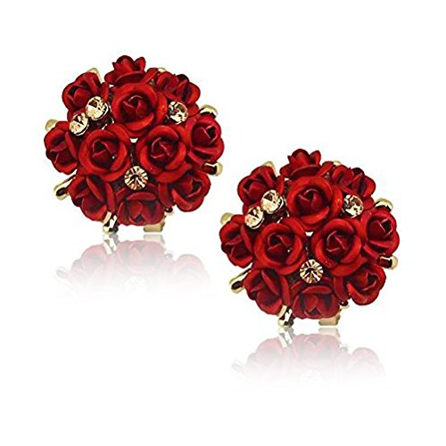 Youbella Rose Shape Earrings For Girls And Women product image