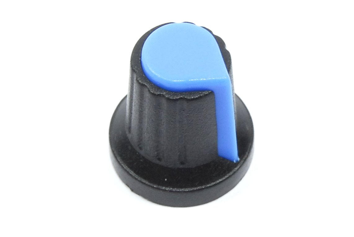 Blue Black Control Knob 6mm Shaft Rotary Potentiometer Audio