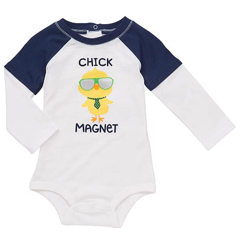 Amazon Boys Baby Chick Magnet Faux Layered Long Sleeve Raglan