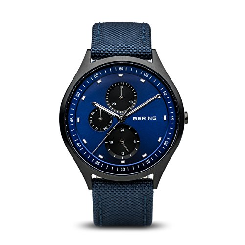 BERING Time 11741-827 Men Titanium Collection Watch with Nylon Strap and scratch resistent sapphire crystal. Designed in Denmark
