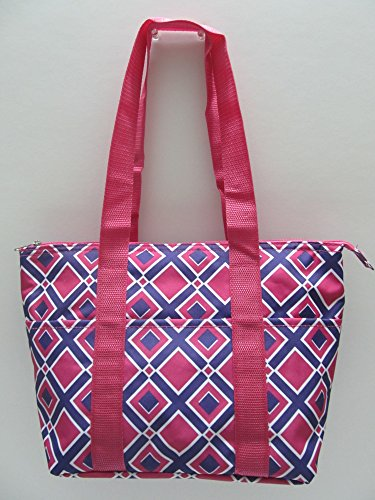 Lunch Tote, Insulated with Cooler Carry Lunch Bag (Diamond Pink)