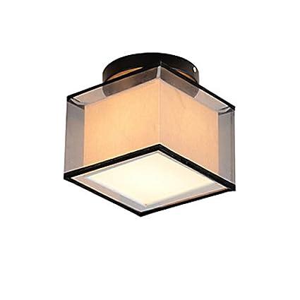 Lámpara De Techo De Lino Cuadrada Contemporánea Moderno ...