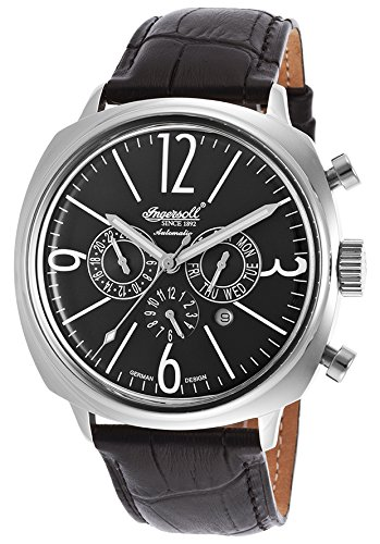 Ingersoll Men's IN2818BK Cooper Analog Display Automatic Self Wind Black Watch