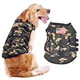 Pet Dog Vest Jacket Clothes by Schnappy, Service Dog US Flag Camouflage Vest for Outdoor Hiking Camping (XL, Camo US Flag)
