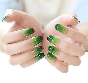Amazon Com Jindin 24 Sheet Acrylic French Fake Nails Oval Nail Art