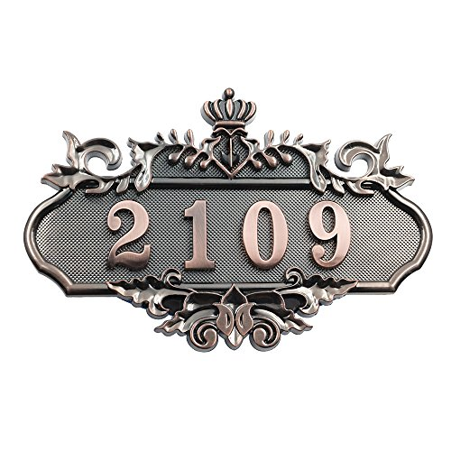 Aspire Customized Home Address Sign, House Hotel Office Number Sign, Personalized Address Plaque Sign, Small Size, Aprox 4.5