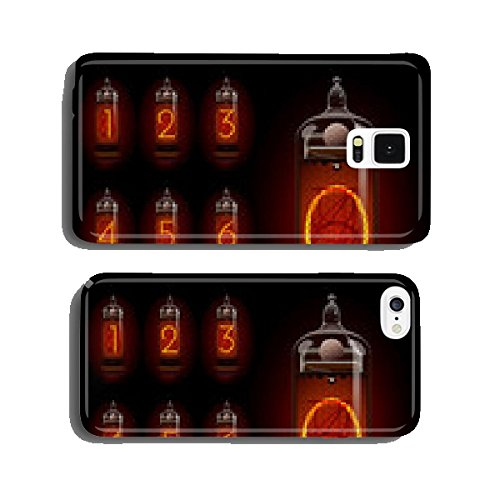 Nixie tube with digits cell phone cover case Samsung S5