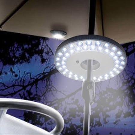 48 LED Outdoor Camping Torch Hanging Lantern Night Light Umbrella Tent Lamp New