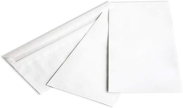 1000 Briefumschläge DIN lang ohne Fenster weiß DL Briefhüllen haft//selbstklebend