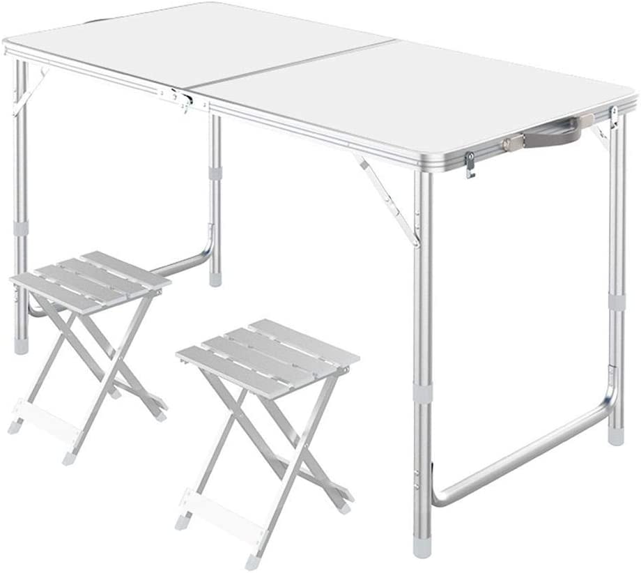 DopBay Mesa de jardínMesa ajustableMesa Blanca 2 taburetes de ...