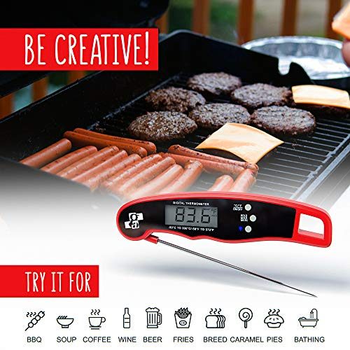 Digital Meat Thermometer – BBQ Thermometer – Waterproof ...