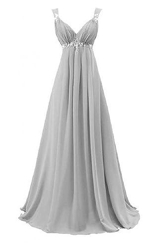 Coonek A Line Bridesmaid Dress Evening Dresses for Wedding Long Chiffon Cusotmize