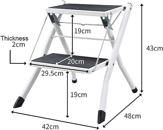 ELLENS Escalera de 2 escalones para niños, Escalera Plegable multifunción, Taburete portátil con Pedal Antideslizante (tamaño: 42 * 48 * 43 cm): Amazon.es: Hogar