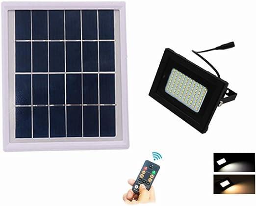 Luz Solar Exterior Luz De Pared LED, Inalámbricas IP65 Impermeable Control Remoto Lámparas Foco Solar 80LED, para Patio, Escaleras, Garaje, Camino De Iluminación: Amazon.es: Jardín