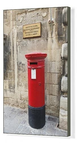 Amazonde Kunstdruck Auf Leinwand Motiv Rote Briefkasten Englisch