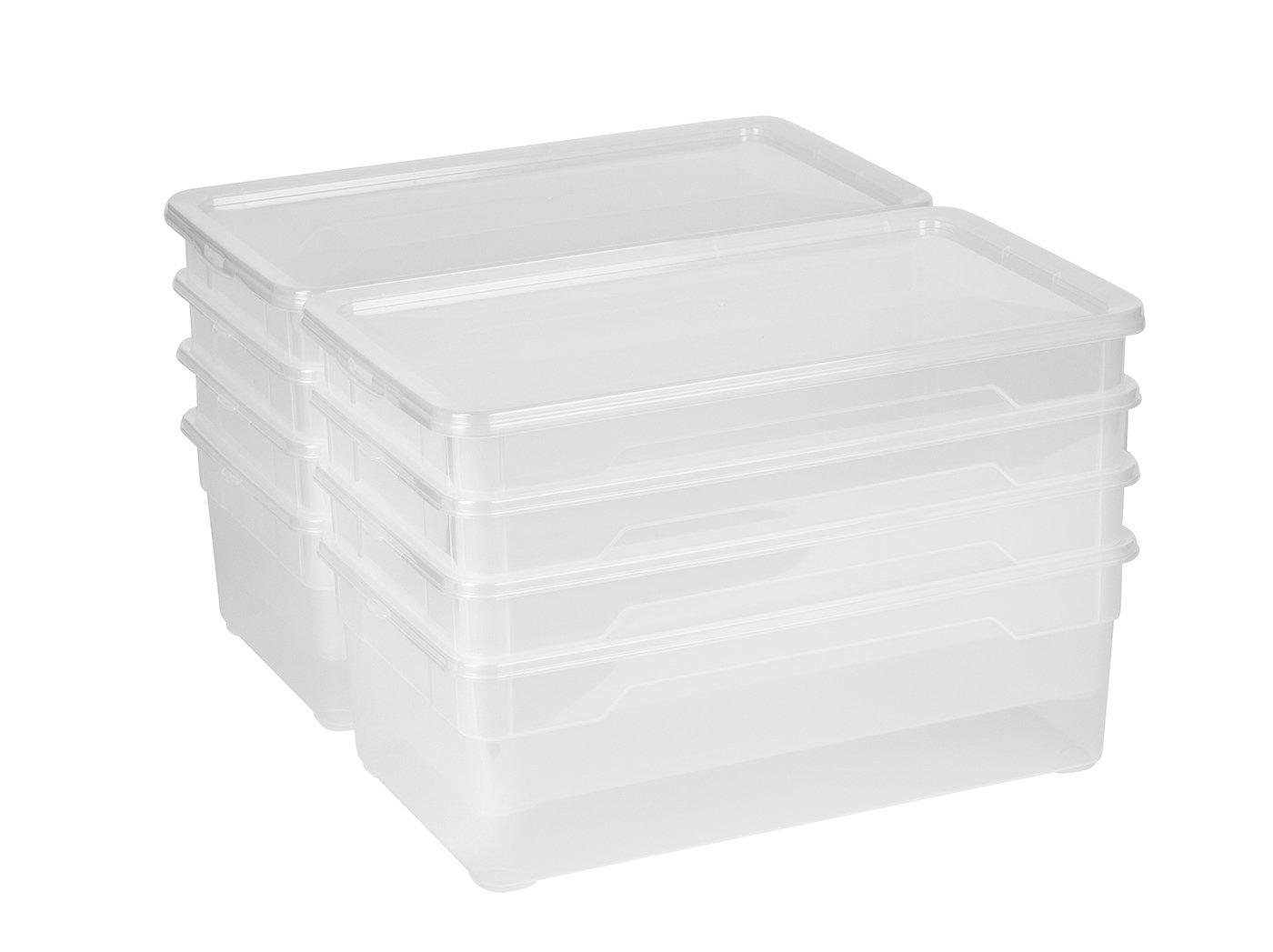 Rotho Sundis 6334200096 pl/ástico color transparente paquete 2 Caja de almacenamiento con tapa