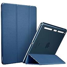 iPad Mini 4 Case, ESR Synthetic Leather Case Ultra Thin with Soft TPU Bumper Edge [Corner Protection] and Magnetic Auto Wake & Sleep Function for iPad Mini 4 (Ming Blue)