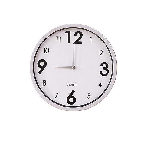 Moda creativa reloj de pared redondo Digital Minimalista personalidad reloj de cuarzo silencioso Sala de estar