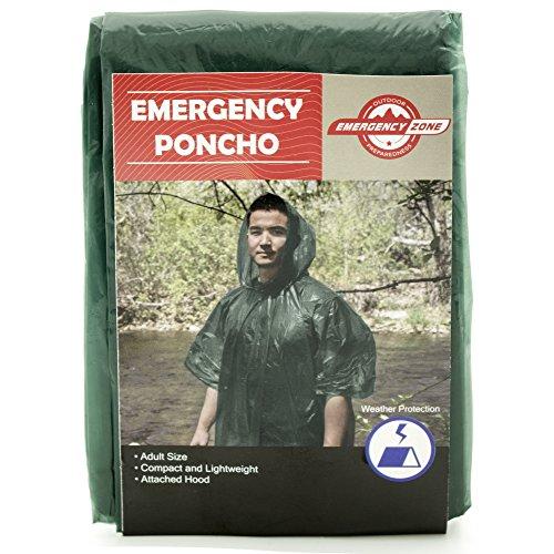 Emergency Poncho 5 Pack, Emergency Rain Gear, Weather Protection, Emergency Zone (Gear Zone Products)