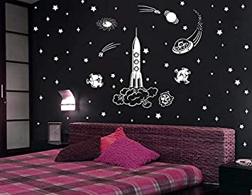 Buy Gallerist Diy Wall Painting Stencils Glossy Galaxy Design Wall Stencil For Kids Room 15 Pieces Stencil Size 12x20 Inches Reusable Online At Low Prices In India Amazon In