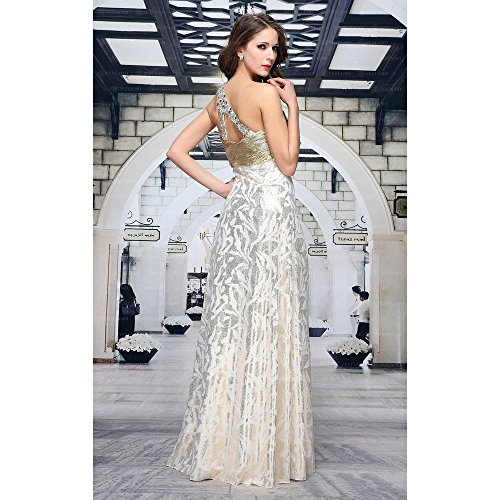 In Maxi Design bei Damen Gr Für Gold Ital Kleid 42 Ball Festamo OP7xYY