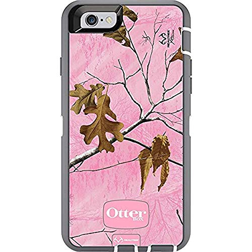 Rugged Protection OtterBox DEFENDER Case for iPhone 6, 6S - Bulk Packaging - REALTREE XTRA PINK (WHITE/GREY W/XTRA PINK CAMO) (Defender Iphone Gold 6 Otterbox)