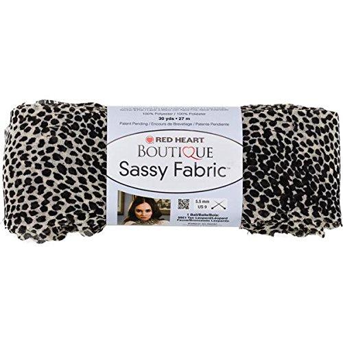 Red Heart Boutique Sassy Fabric Yarn-White Cheetah