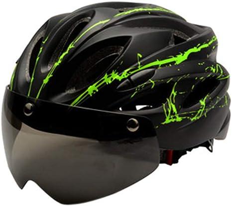 Casco de Ciclismo con Gafas para Hombre y Mujer, Casco de ...