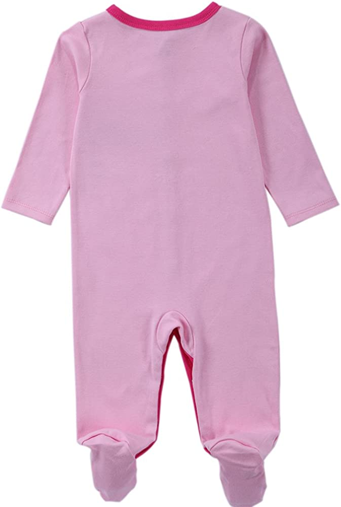 BABE MAPS Unisex Babys Footed Sleeper Pajamas Long Sleeved Newborn One Piece