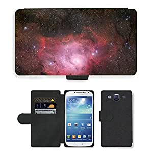 PU Cuir Flip Etui Portefeuille Coque Case Cover véritable Leather Housse Couvrir Couverture Fermeture Magnetique Silicone Support Carte Slots Protection Shell // M00291858 Nebulosa de la laguna Messier 8 Ngc // Samsung Galaxy S3 S III SIII i9300