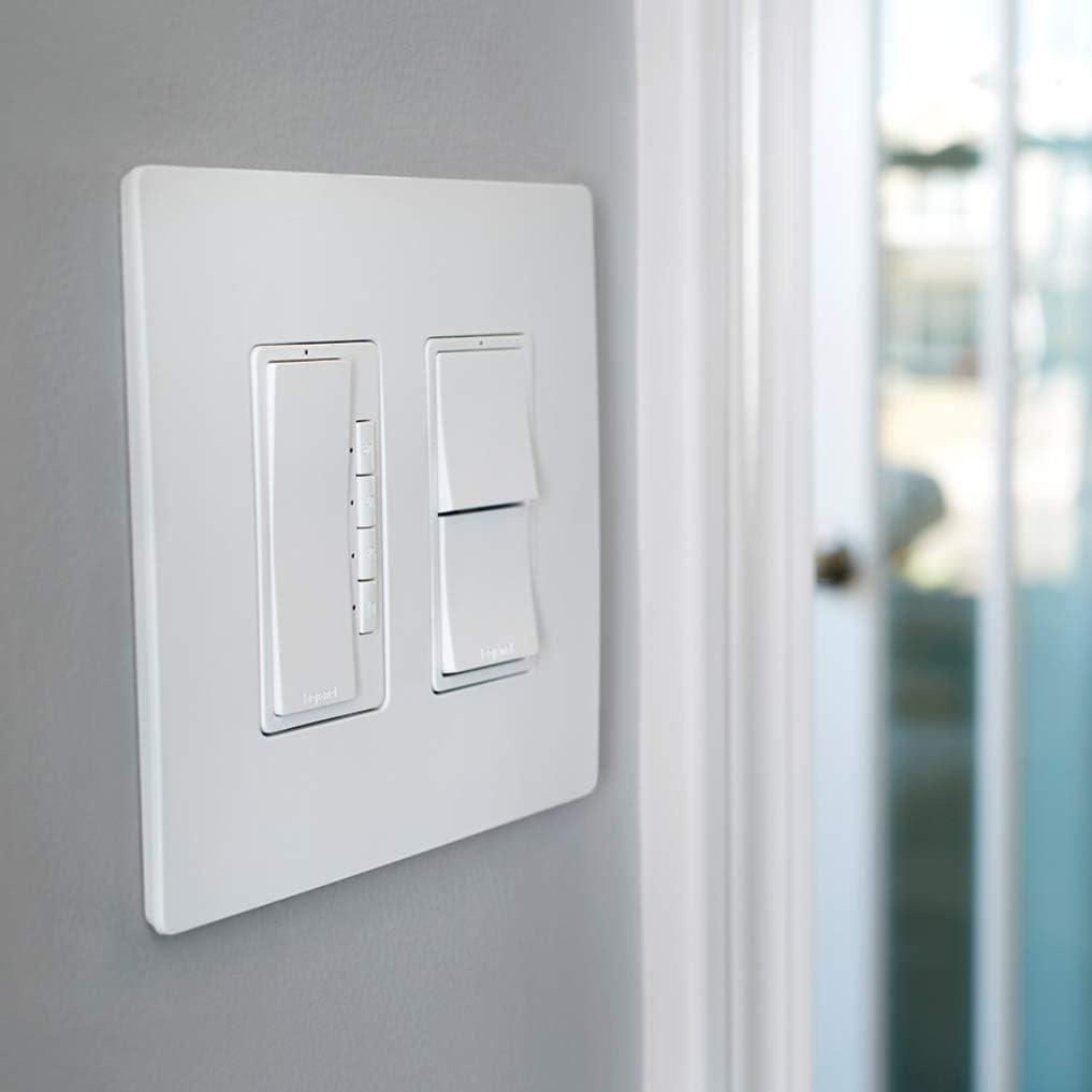 RT2DBCCV4 Legrand radiant Digital Light Switch Countdown Timer 4-Button Decorator Rocker Wall Switch