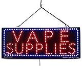 LARGE LED OPEN SIGN - ''VAPE SUPPLIES'' - 13''X32'' size, ON / OFF / FLASHING MODE (LED-Factory #2584fba)