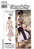 Simplicity 8555 Sewing Pattern Sherry Holt Peplum Dress Top Skirt Size 6 - 10 - Bust 30 1/2 - 32 1/2