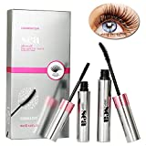 3D Fiber Mascara, 3D Fiber Lash Mascara, Fiber Lash Mascara, Natural Ingredients Mascara For Thickening & Lengthening Natural Lashes, Waterproof, Smudge Proof, Lasting All Day
