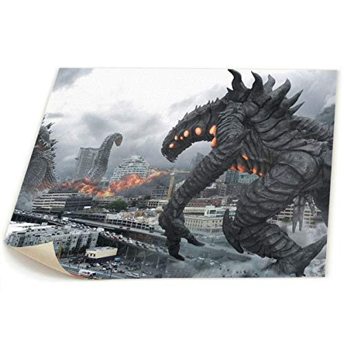Little Monster Godzilla HD Non-Framed Painted On Canvas Home Decor Funny Art for Boys and Girls Bedroom