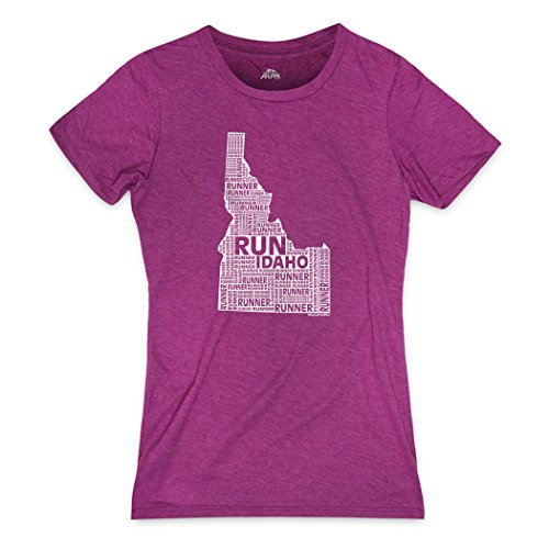Runners Tee By Gone For A Run   Womens T Shirt   Gone For A Run Idaho State Runner Adult Medium On Lush Berry   Lush Berry   Adult Medium