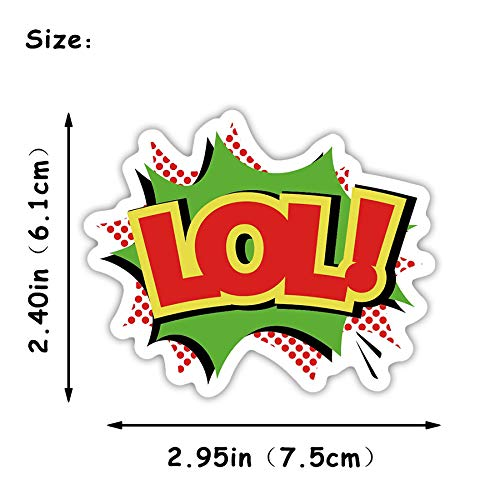 Zorux - 1 PCS LOL Buzzword Sticker Toys for Children Pop Style Creative LOL Stickers Gadget Gift to DIY Scrapbook Laptop Suitcase Bike
